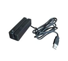 Щелевой считыватель магнитных карт Cipher MSR213U-33 USB HID, черный